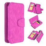 (D01) IPHONE X/XS THE LUXURY COACH 2 SERIES FLIP WALLET CASE - HOT PINK