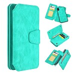 (D01) IPHONE X/XS THE LUXURY COACH 2 SERIES FLIP WALLET CASE - TEAL