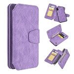 (D01) IPHONE XS MAX THE LUXURY COACH 2 SERIES FLIP WALLET CASE - LAVENDER