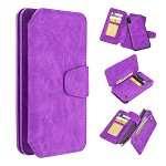 (D01) IPHONE XS MAX THE LUXURY COACH 2 SERIES FLIP WALLET CASE - PURPLE