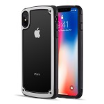 (D01) IPHONE XS MAX ZERODAMGE DUAL PROTECTIVE HYBRID CASE WITH 2 TONE FRAME AND TEMPERED GLASS BACK PLATE - WHITE