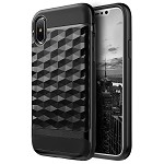 (D01) IPHONE X/XS DIAMOND WAVE TPU WITH COLOR PC FRAME HYBRID PROTECTION CASE - BLACK (BUY 5 GET 3 FREE)