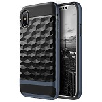(D01) IPHONE X/XS DIAMOND WAVE TPU WITH COLOR PC FRAME HYBRID PROTECTION CASE - NAVY BLUE (BUY 5 GET 3 FREE)