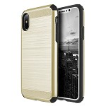 (D01) IPHONE X/XS THE SILKEE ARMOR ANTI SHOCK PC + TPU DUAL HYBRID CASE - GOLD (BUY 5 GET 3 FREE)