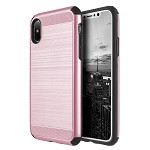 (D01) IPHONE X/XS THE SILKEE ARMOR ANTI SHOCK PC + TPU DUAL HYBRID CASE - ROSE GOLD (BUY 5 GET 3 FREE)