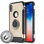 (D01) IPHONE X/XS CARBON EDGE SPORTS HYBRID CASE WITH CIRCO MAGSTAND - GOLD (BUY 5 GET 3 FREE)