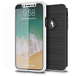 (D01) IPHONE X/XS THE CAPSULE FULL COVER HYBRID SILK TPU W/ PC FRAME AND TEMPERED GLASS SCREEN PROTECTOR - SILVER (BUY 5 GET 3 FREE)