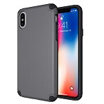 (D01) IPHONE X/XS TITAN ANTI-SHOCK HYBRID PROTECTION CASE - GRE (BUY 5 GET 3 FREE)
