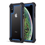 (D01) IPHONE X/XS THE VISPRO SERIES DUAL TONE TOUGH HYBRID PROTECTION CASE - BLUE (BUY 5 GET 3 FREE)