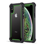 (D01) IPHONE X/XS THE VISPRO SERIES DUAL TONE TOUGH HYBRID PROTECTION CASE - GREEN (BUY 5 GET 3 FREE)