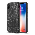 (D01) IPHONE XS MAX THE SPLASH INK LUGGAGE HYBRID PROTECTION CASE - BLACK