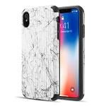 (D01) IPHONE XS MAX THE SPLASH INK LUGGAGE HYBRID PROTECTION CASE PLUS - WHITE