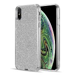 (D01) IPHONE XS MAX THE ULTIMATE DELUXE HYBRID CASE GLITTERING EDITION - SILVER