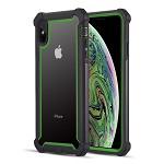 (D01) IPHONE XS MAX THE VISPRO SERIES DUAL TONE TOUGH HYBRID PROTECTION CASE - GREEN
