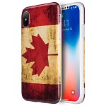 (D01) IPHONE X/XS PATRIOTIC FLAG SERIES IMD TPU CASE - CANADA (BUY 5 GET 3 FREE)
