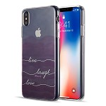 (D01) IPHONE XS MAX THE WATER COLOR IMD TPU CASE - LIVE LAUGH LOVE