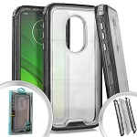 (E01) MOTO G7 PLAY 3-IN-1 TRANSPARENT CASE - SMOKE (RETAIL PACKED)