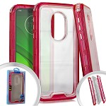 (E01) MOTO G7 PLAY 3-IN-1 TRANSPARENT CASE - RED (RETAIL PACKED)