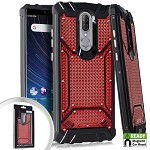 (E01) COOLPAD LEGACY METAL JACKET DIAMOND PLATE CHROME - RED (RETAIL PACKED)