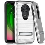 (E01) MOTO G7 PLAY BRUSHED METAL STAND - SILVER