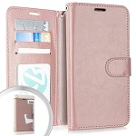 (E01) MOTO G7 PLAY WALLET POUCH 3 - ROSE GOLD (RETAIL PACKED)