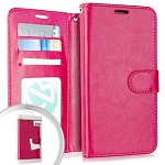 (E01) MOTO G7 PLAY WALLET POUCH 3 - HOT PINK (RETAIL PACKED)