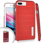 (3E) IPHONE 7 PLUS / 8 PLUS DELUX BRUSHED - RED (RETAIL PACKED)