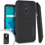 (E01) LG STYLO 4 / 4 PLUS DELUX BRUSHED - BLACK (RETAIL PACKED)