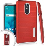 (E01) LG STYLO 4 / 4 PLUS DELUX BRUSHED - RED (RETAIL PACKED)