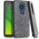 (E01) MOTO G7 PLAY FLAKE MARBLE - BLACK
