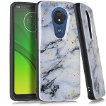 (E01) MOTO G7 PLAY FLAKE MARBLE - WHITE