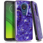 (E01) MOTO G7 PLAY FLAKE MARBLE - PURPLE