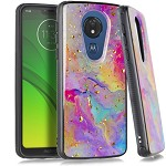 (E01) MOTO G7 PLAY FLAKE MARBLE - RAINBOW