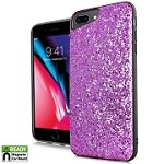 (E01) IPHONE 6/6S CHUNKY GLITTER CASE WITH METAL BACK FOR MAGNETIC HOLDER - GLITTER PINK