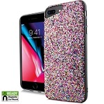 (E01) IPHONE 6/6S CHUNKY GLITTER CASE WITH METAL BACK FOR MAGNETIC HOLDER - RAINBOW