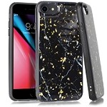 (E01) IPHONE 6/6S FLAKE MARBLE - BLACK