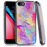 (E01) IPHONE 6/6S FLAKE MARBLE - RAINBOW