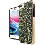 (E01) IPHONE 6/6S ONYX CRYSTAL - GOLD/TEAL