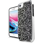 (E01) IPHONE 6/6S ONYX CRYSTAL - SILVER/BLACK