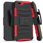 (3E) IPHONE 7 PLUS / 8 PLUS HOLSTER - RED