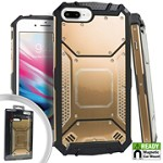 (3E) IPHONE 7 PLUS / 8 PLUS METAL JACKET - GOLD (RETAIL PACKED)