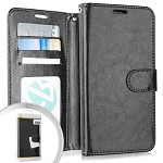 (3E) IPHONE 7 PLUS / 8 PLUS WALLET POUCH 3 - BLACK (RETAIL PACKED)