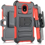 (E01) SAMSUNG GALAXY J7 (2018) HOLSTER - RED