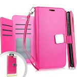 (E01) LG STYLO 4 / 4 PLUS DELUXE WALLET - PINK (RETAIL PACKED)