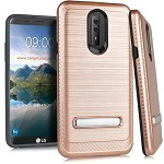 (E01) LG STYLO 4 / 4 PLUS BRUSHED METAL STAND - ROSE GOLD