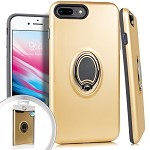 (3E) IPHONE 7 PLUS / 8 PLUS MAGNET RING STAND - GOLD (RETAIL PACKED)