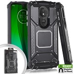 (E01) MOTO G7 PLAY METAL JACKET - BLACK (RETAIL PACKED)