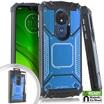 (E01) MOTO G7 PLAY METAL JACKET - BLUE (RETAIL PACKED)