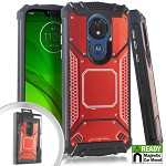 (E01) MOTO G7 PLAY METAL JACKET - RED (RETAIL PACKED)