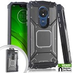 (E01) MOTO G7 PLAY METAL JACKET - GRAY (RETAIL PACKED)